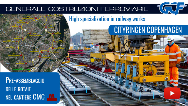 Cityringen GCF: Pre-assembly of the track