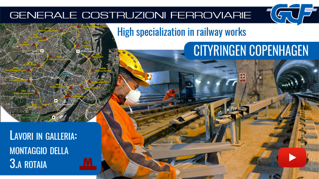 Cityringen GCF: assembly of the third track