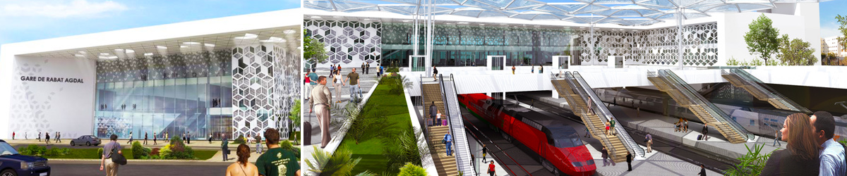 The new Rabat-Agdal railway station project