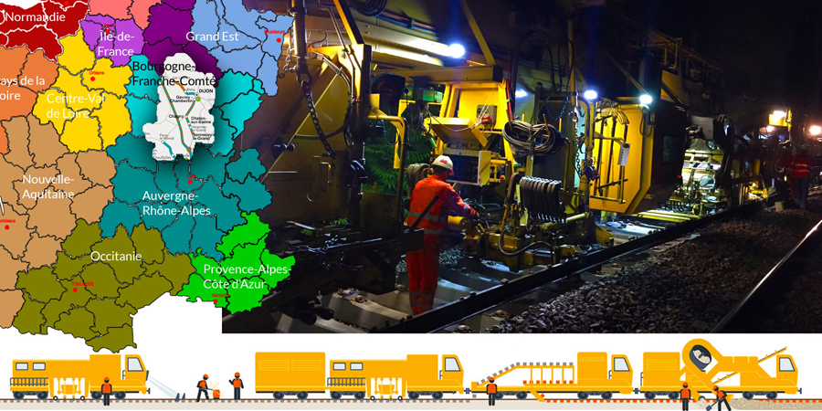 GCF: Night-time work at the third Suite Rapide 2017 worksite