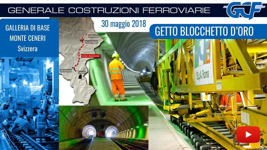 Blocchetto d'oro al Tunnel di Base del Ceneri