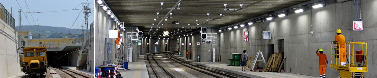 Rigid catenary for the new Lavis underground station