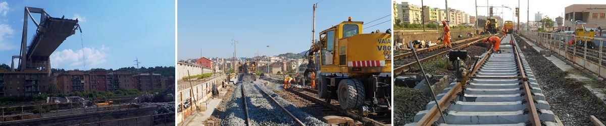 """Proud to have helped RFI in Genoa"""