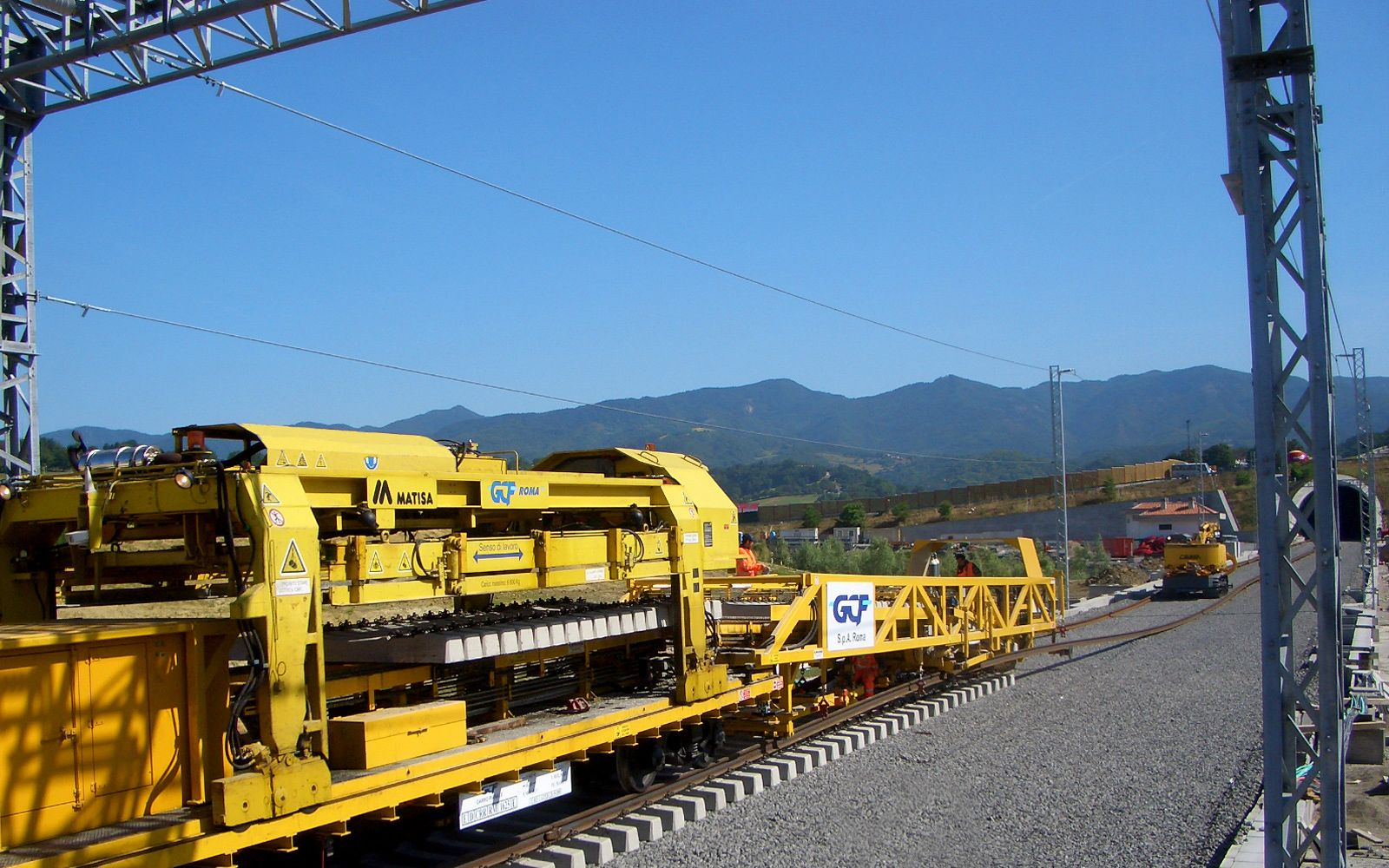 Highly specialized in  railway construction work